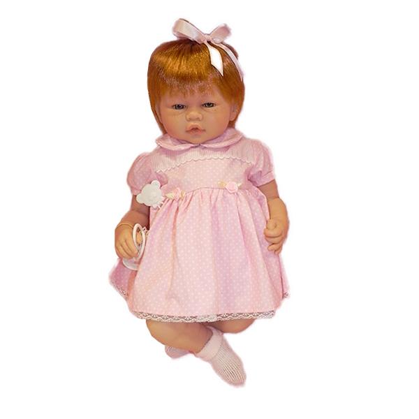 buy online 2005e ae7e3 GUCA MUNECAS BAMBOLA VERA VESTITO ROSA 46CM - Vespoli giocattoli