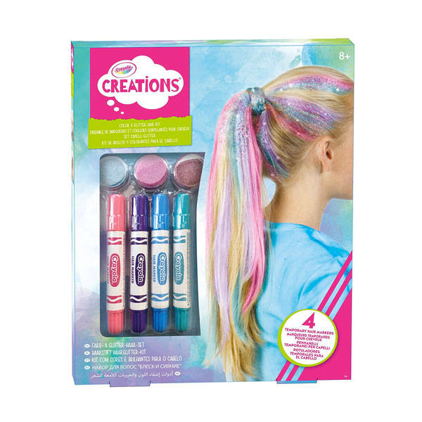 CRAYOLA CREATIONS SET CAPELLI GLITTER