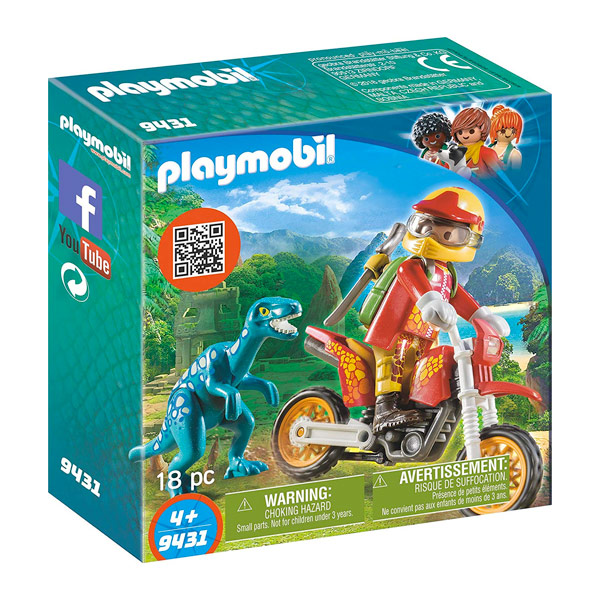PLAYMOBIL MOTO DA CROSS E RAPTOR