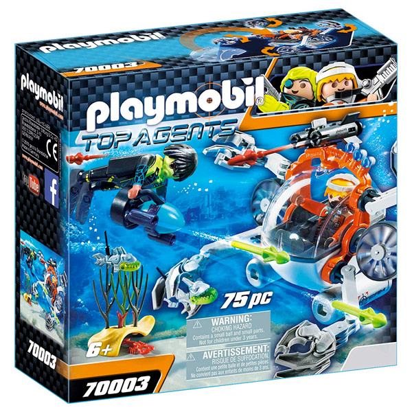 PLAYMOBIL GRANCHIO SUBACQUEO SPY TEAM