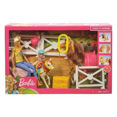 MATTEL BARBIE RANCH CON CHELSEA CON CAVALLI E ACCESSORI