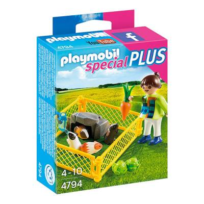 PLAYMOBIL BAMBINA CON PORCELLINI D'INDIA