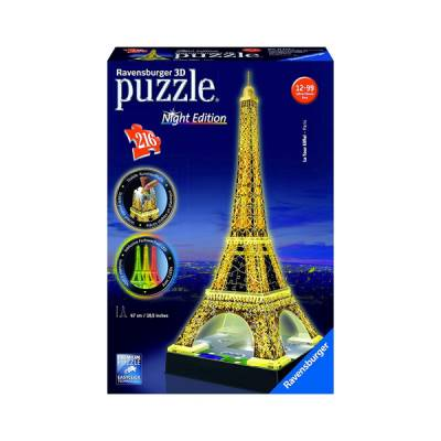 RAVENSBURGER PUZZLE 3D TORRE EIFFEL CON LUCI NIGHT SPECIAL EDITION CON LED