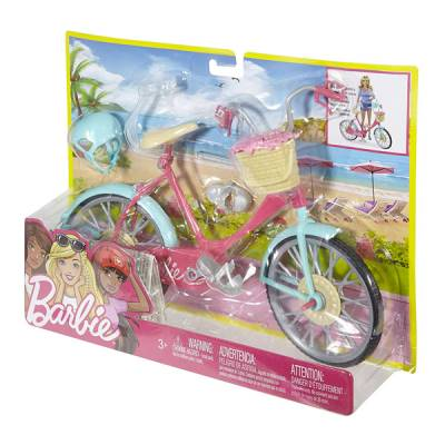 MATTEL BARBIE BICI CON CASCO E ACCESSORI