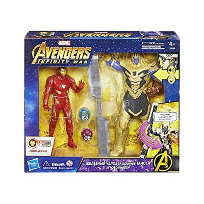 HASBRO SET BATTAGLIA INFINITY WAR IRON MAN VS THONAS HERO VISION