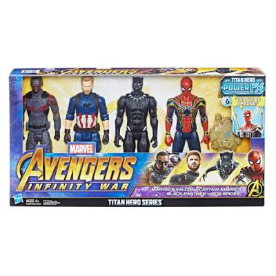 HASBRO AVENGERS TITAN HERO PACK 4 PERSONAGGI