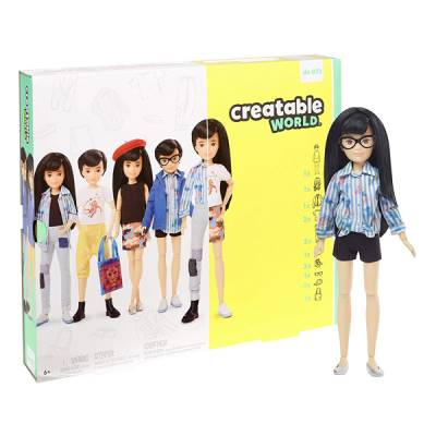 MATTEL CREATABLE WORLD CAPELLI NERI DELUXE