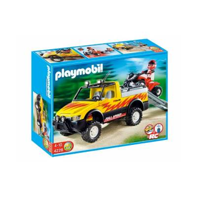 PLAYMOBIL PICK UP CON QUAD DA CORSA