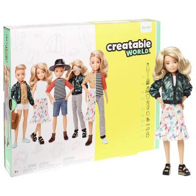 MATTEL CREATABLE WORLD KIT DELUXE CAPELLI BIONDI