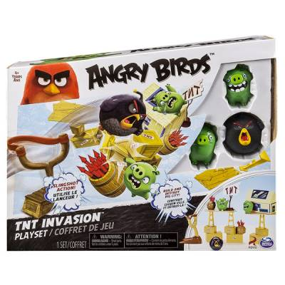 SPIN MASTER ANGRY BIRDS TNT INVASION PLAYSET ATTACCO ALLA NAVE SUINA