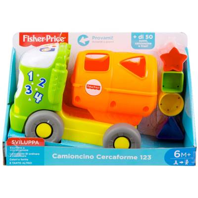 FISHER PRICE CAMIONCINO CERCA FORME 123
