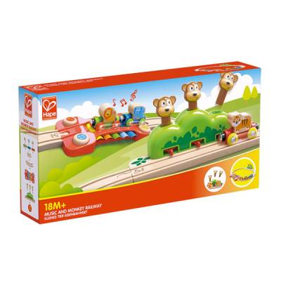 HAPE INTERNATIONAL AND MONKEYS RAILWAY PERCORSO MUSICA E SCIMMIE