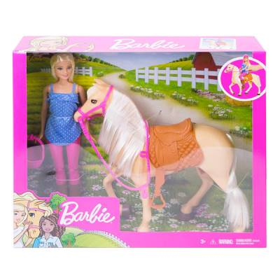 MATTEL BARBIE CON CAVALLO E ACCESSORI