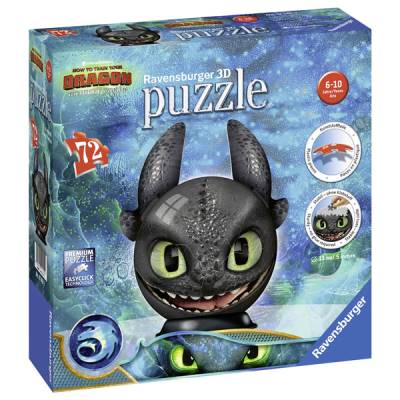 RAVENSBURGER PUZZLEBALL 3D 72 PZ DRAGONS