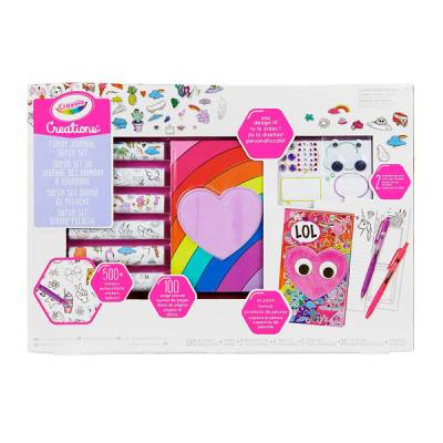 CRAYOLA CRATIONS SUPER SET DIARIO PELUCHE