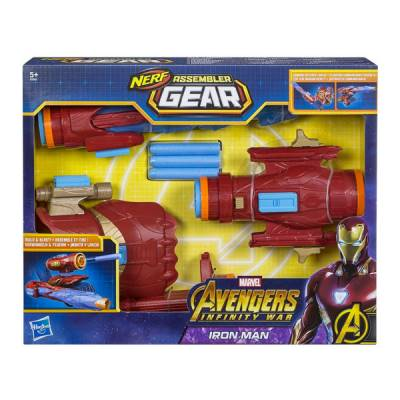 HASBRO IRON MAN ASSEMBLER GEAR IRON MAN NERF