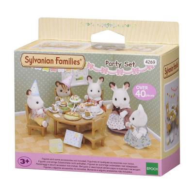 SYLVANIAN FAMILIES SET PARTY IN CASA CON ACCESSORI