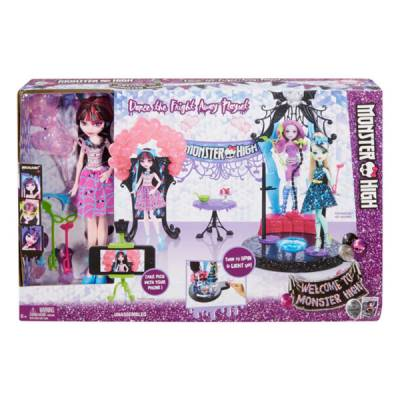 MATTEL MONSTER HIGH DRACULAURA DOLL DANCE FRIGHT PLAYSET
