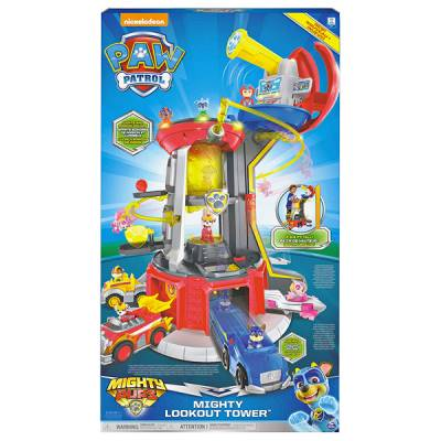 SPIN MASTER PAW PATROL TORRE MIGHTY PUPS LOOKOUT TOWER