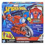 HASBRO SPIDER-MAN TITAN POWER FX CON MOTO