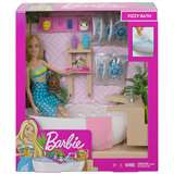 MATTEL BARBIE FIZZY BATH BAMBOLA REALX IN VASCA WELLNESS